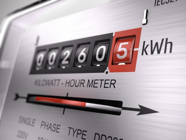 Zero energy meter